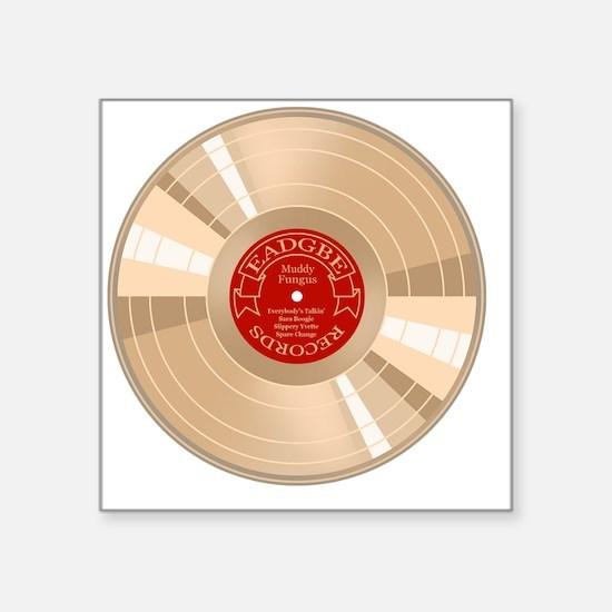 """gold-record-T Square Sticker 3"""" x 3"""""""
