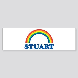 STUART (rainbow) Bumper Sticker