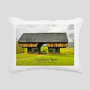 CadesCoveBarn_laptop Rectangular Canvas Pillow