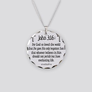 John 3_16 e Necklace Circle Charm