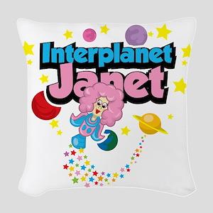 Interplanet-Janet Woven Throw Pillow