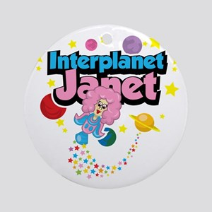 Interplanet-Janet Round Ornament