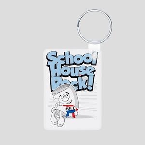 School-House-Rocks-Bill Aluminum Photo Keychain
