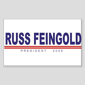 Russ Feingold (simple) Rectangle Sticker