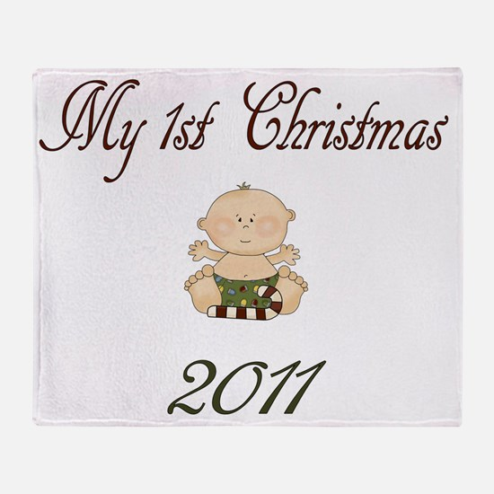1STchristmasBOY Throw Blanket