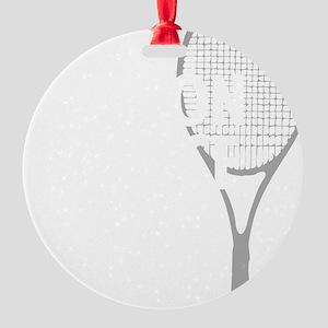 tennisWeapon1 Round Ornament