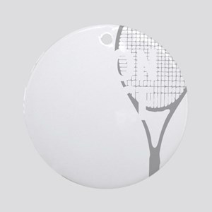 tennisWeapon1 Round Ornament