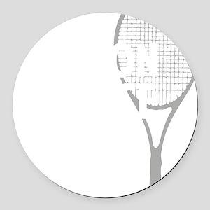 tennisWeapon1 Round Car Magnet
