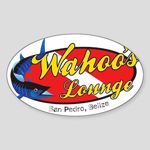 wahoo_lounge_logo_cutout Sticker (Oval)