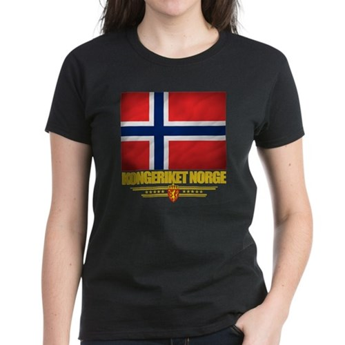 Norway (Flag 10) Women's Dark T-Shirt