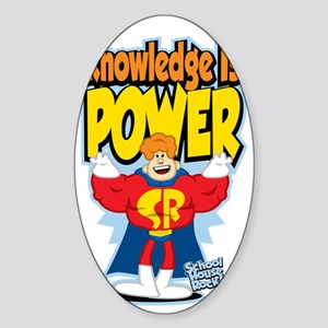 Knowledge-Is-Power Sticker (Oval)