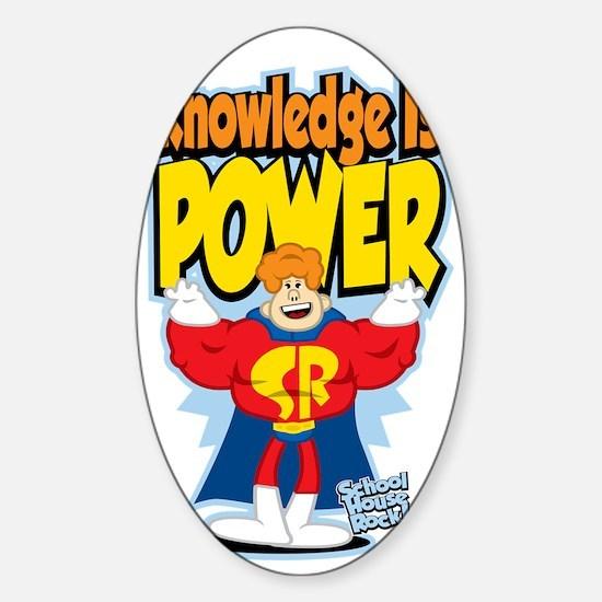 Knowledge-Is-Power Sticker (Oval)
