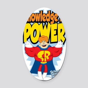 Knowledge-Is-Power Oval Car Magnet