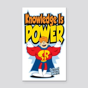 Knowledge-Is-Power Rectangle Car Magnet