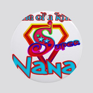 Super Nana Round Ornament