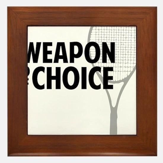 tennisWeapon2 Framed Tile