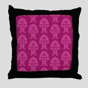 baroque_skulls Throw Pillow