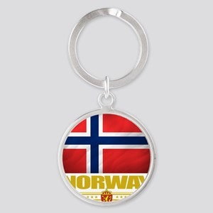 Norway2 (Flag 10) Round Keychain