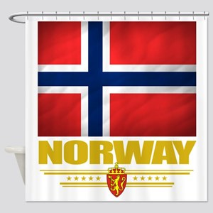 Norway2 (Flag 10) Shower Curtain