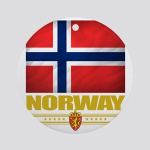 Norway2 (Flag 10) Round Ornament