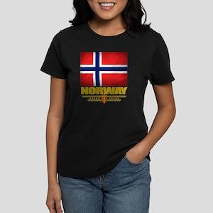 Norway2 (Flag 10) Women's Dark T-Shirt