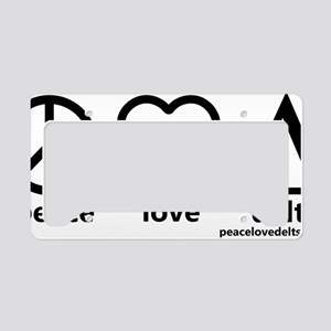 peace_love_delts_black_final License Plate Holder