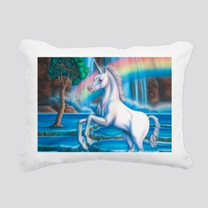 Rainbow_Unicorn_10x15 Rectangular Canvas Pillow