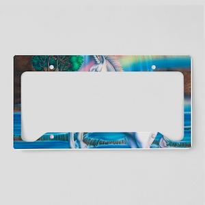 Rainbow_Unicorn_10x15 License Plate Holder