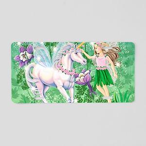 Fairy Unicorn 10x15H Aluminum License Plate