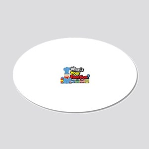 Conjunction-Junction 20x12 Oval Wall Decal
