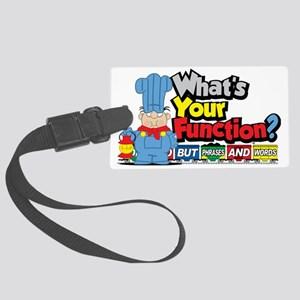 Conjunction-Junction Large Luggage Tag