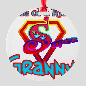 SuperGranny Round Ornament