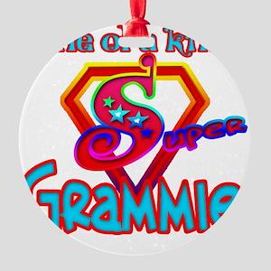 SUPER GRAMMIE Round Ornament