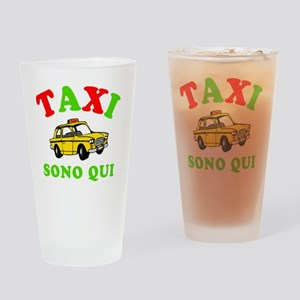 TaxiSonoQui Italy-dk Drinking Glass