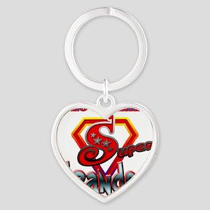 SuperGrandpa Heart Keychain