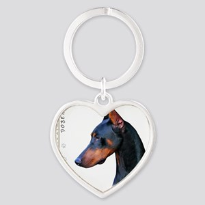 portrait Heart Keychain