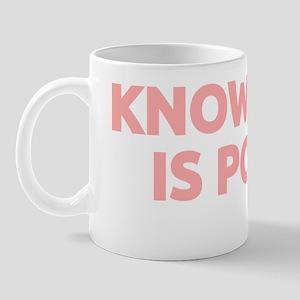 Knowledge Is Power (pink) Mug