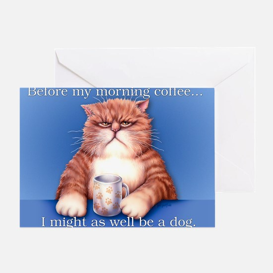 Coffee cat 10x15H Greeting Card