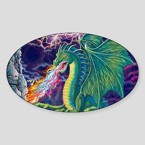 DragonsLair_10x15 Sticker (Oval)