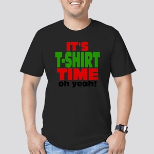 Tee Shirt Time -color Men's Fitted T-Shirt (dark)