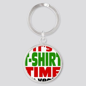 Tee Shirt Time -color Round Keychain