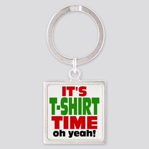 Tee Shirt Time -color Square Keychain