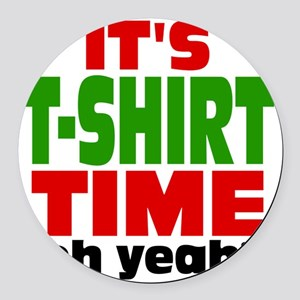 Tee Shirt Time -color Round Car Magnet