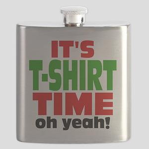Tee Shirt Time -color Flask
