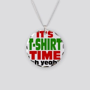 Tee Shirt Time -color Necklace Circle Charm