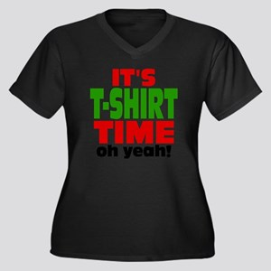 Tee Shirt Ti Women's Plus Size Dark V-Neck T-Shirt