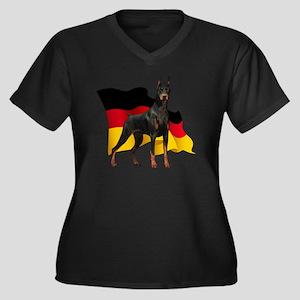flag3 Women's Plus Size Dark V-Neck T-Shirt