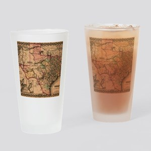 1855 Map of TX Drinking Glass