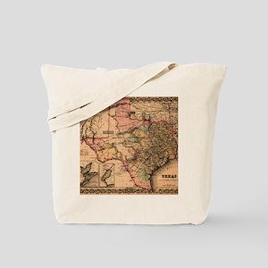 1855 Map of TX Tote Bag
