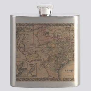 1855 Map of TX Flask